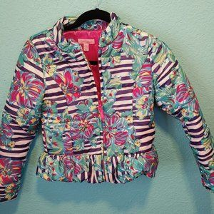 Girl's XL (12-14) Lilly Pulitzer Puffer Jacket